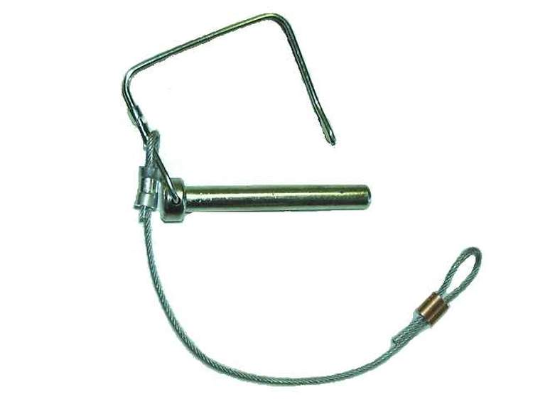 Locking device for the rolling post. It includes the pin, the cable and one copper sleeve.